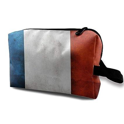 4ac3a7cf5357 Amazon.com: France Flag Cosmetic Bags Stranger Things Makeup Bag ...