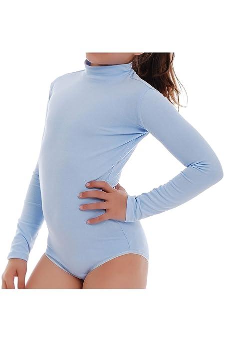Child Long Sleeve Turtle Neck Bodysuit Girl Leotardl TIARA GALIANO 1492 EU SALE