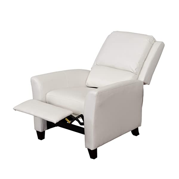 CorLiving LZY-513-R Kate Leather Recliner White
