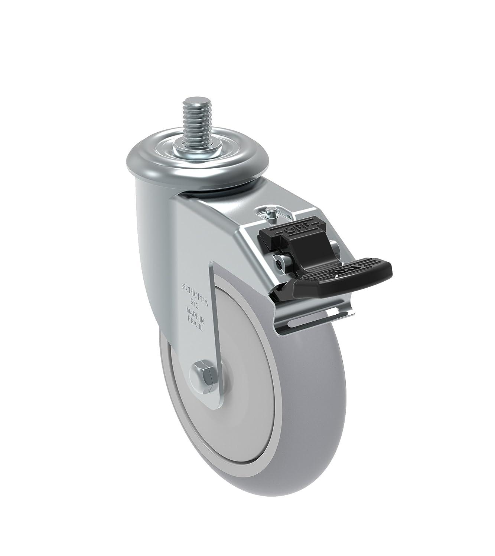 275 lb 1//2 Diameter x 1-1//2 Length Threaded Stem Non-Marking Polypropylene Precision Ball Bearing Wheel Schioppa GLEIF 412 NPE L12 Series 4 x 1-1//4 Diameter Swivel Caster
