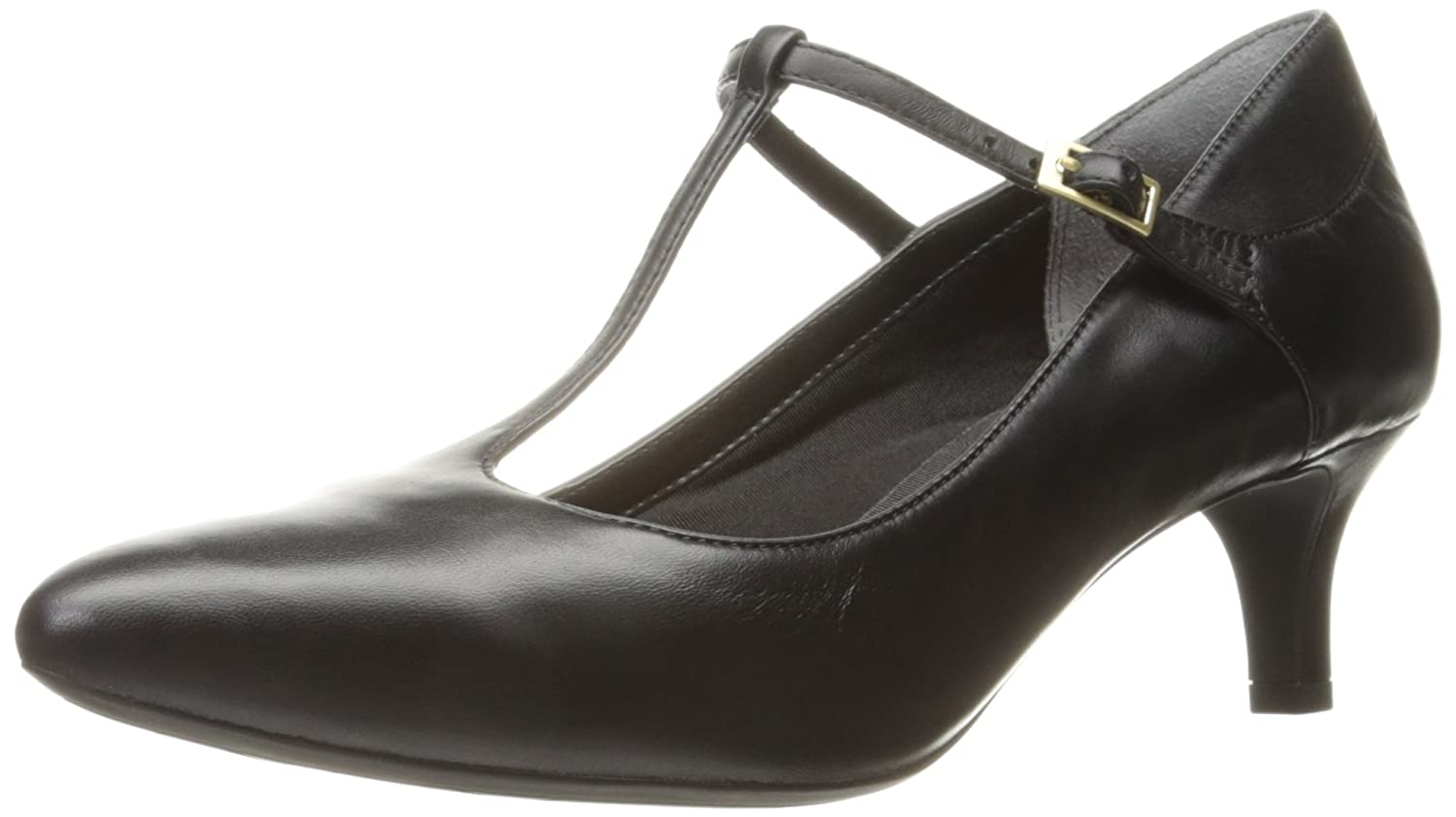 Rockport Women's Total Motion Kalila T-Strap Dress Pump B01ABS1V1C 9.5 B(M) US|Black Leather