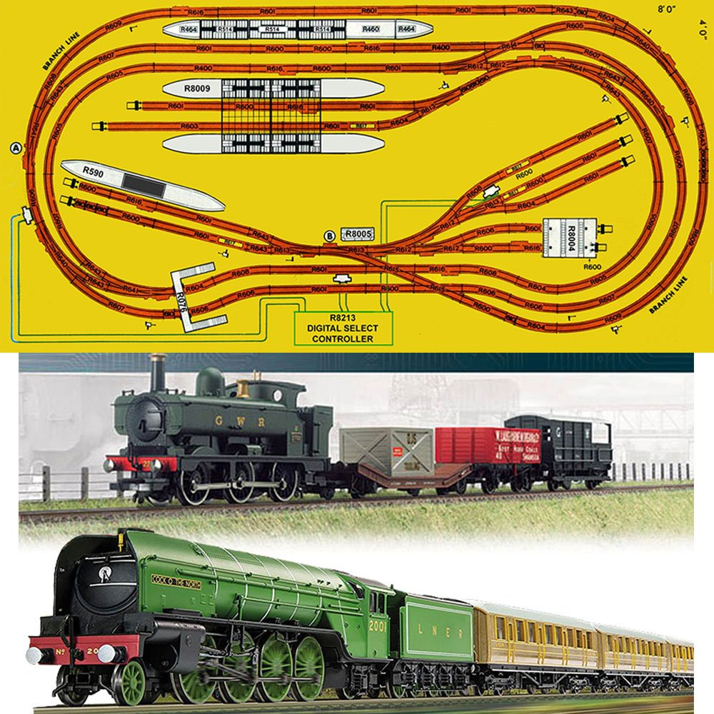 HORNBY Digital Train Set HL4 Big Layout Track for 8x4 Board