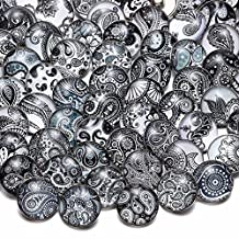 50pcs/lot Multi Themes Mixed Pattern Glass Snap Charms 18mm Ginger Snap Button For 20mm Snap Bracelet Snap Jewelry KZHM (HM060)