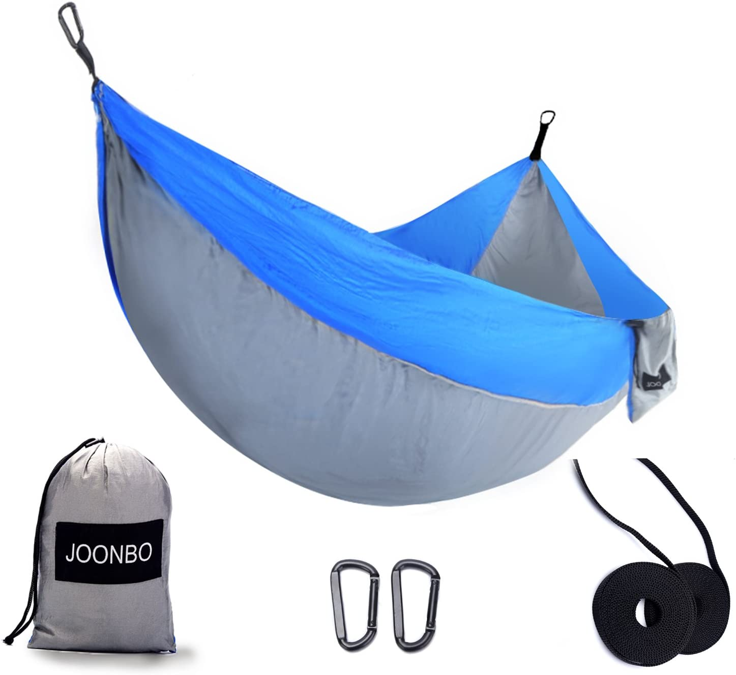 Joonbo Multiple-use Camping Hammock- Outdoors Travel Lightweight Portable Nylon Parachute Multifunctional Hammocks for Backpacking, Beach, Yard, Hiking with Straps