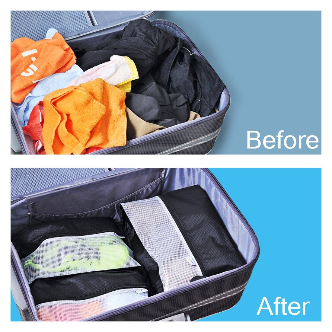 Lermende Travel Shoe Bags Waterproof Nylon Organizer Storage Tote Pouch 5pcs by Lermende (Image #6)