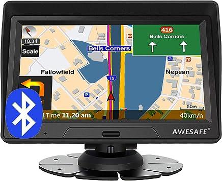 Awesafe Navigation Für Auto Lkw 7 Zoll Navigationssystem Mit Bluetooth 2020 Europa Karte Untertützt Lebenslang Kartenupdate Navigation