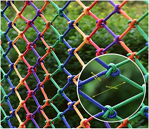 Red de Seguridad, Barandilla Red Foto Color de La Pared Decoración Red Escalera Red de Seguridad Red Anti-Cat Red Neta Cat Kinder Protección de Niños Cuerda Neta Grueso 8mm Rejilla 6cm Multi-tamaño: