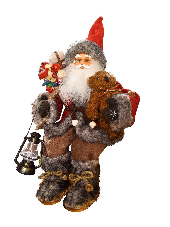 sitting father christmas santa claus figure amazon co uk kitchen