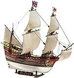 Revell Modellbausatz Schiff 1:83 - Pilgrim Ship MAYFLOWER im Maßstab 1:83, Level 5, originalgetreue Nachbildung mit vielen Details, Segelschiff, 05486
