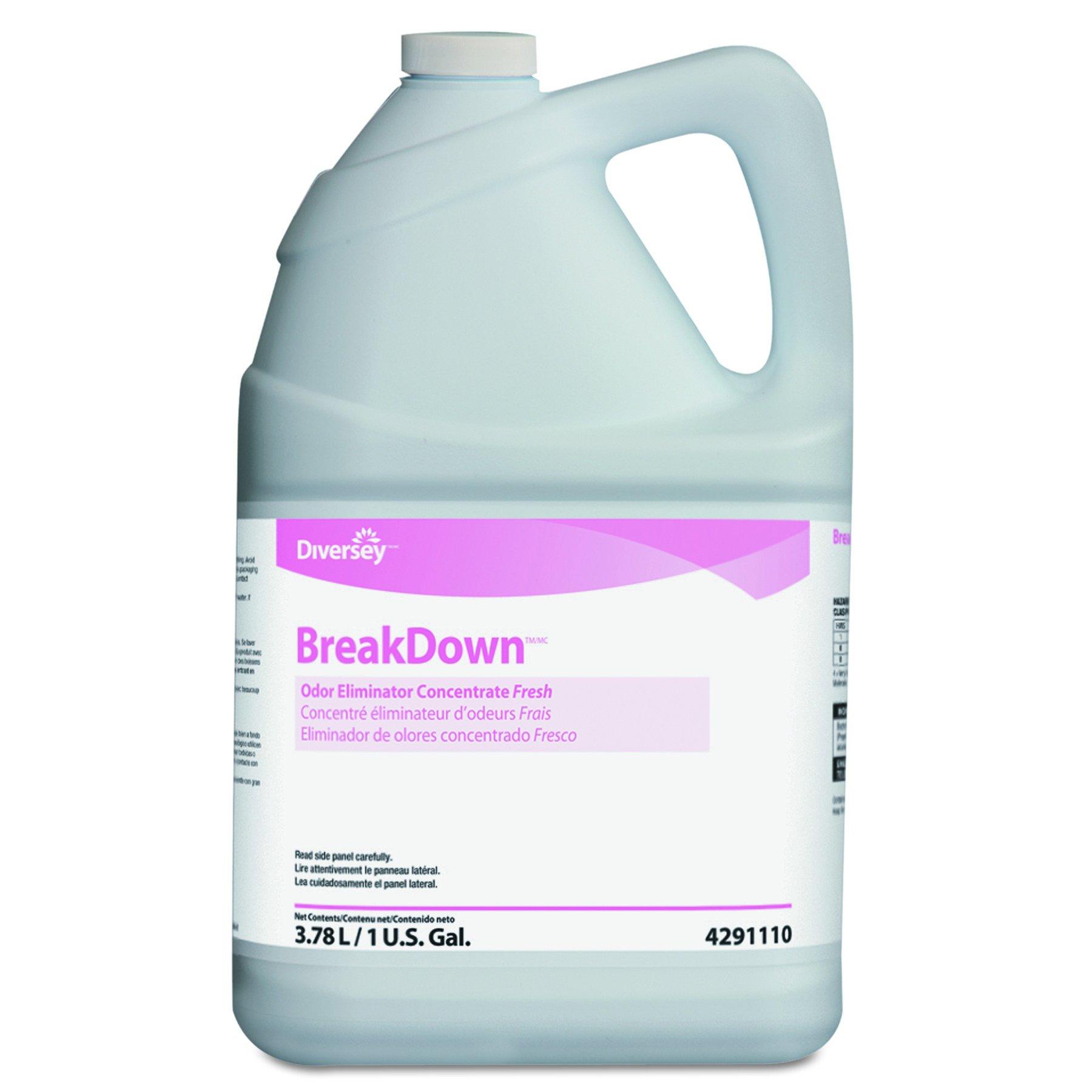 Diversey 94291110 Butcher's Odor Eliminator, Fresh Scent, Liquid, 1 gal. Bottle (Case of 4) by Diversey