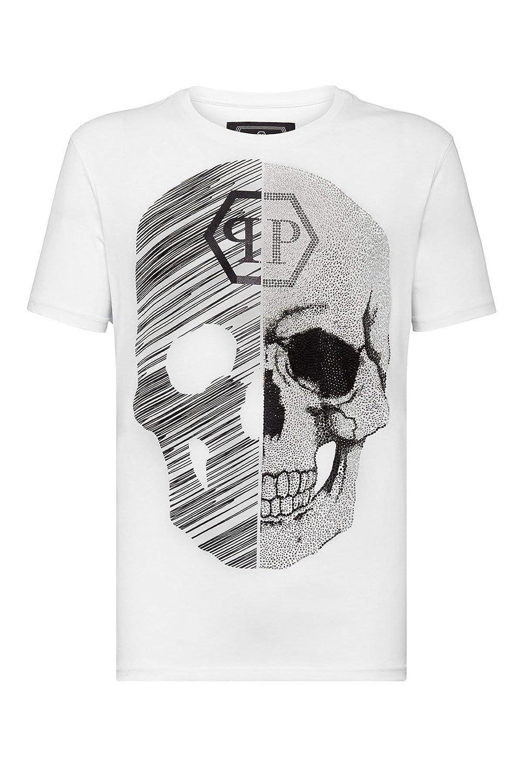 PHILIPP PLEIN Maniche Corte MTK3336 Neck Skull