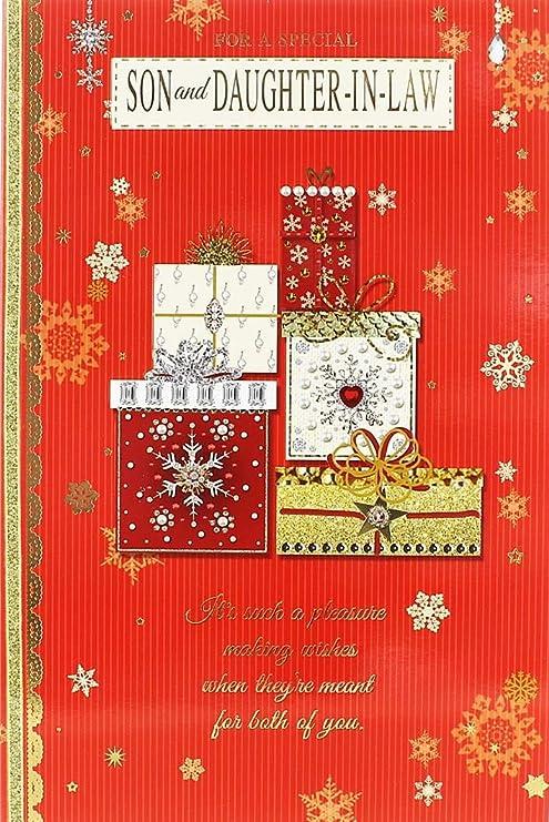 Cards Galore Online Tarjeta de Navidad para Hijo y Hija en ...