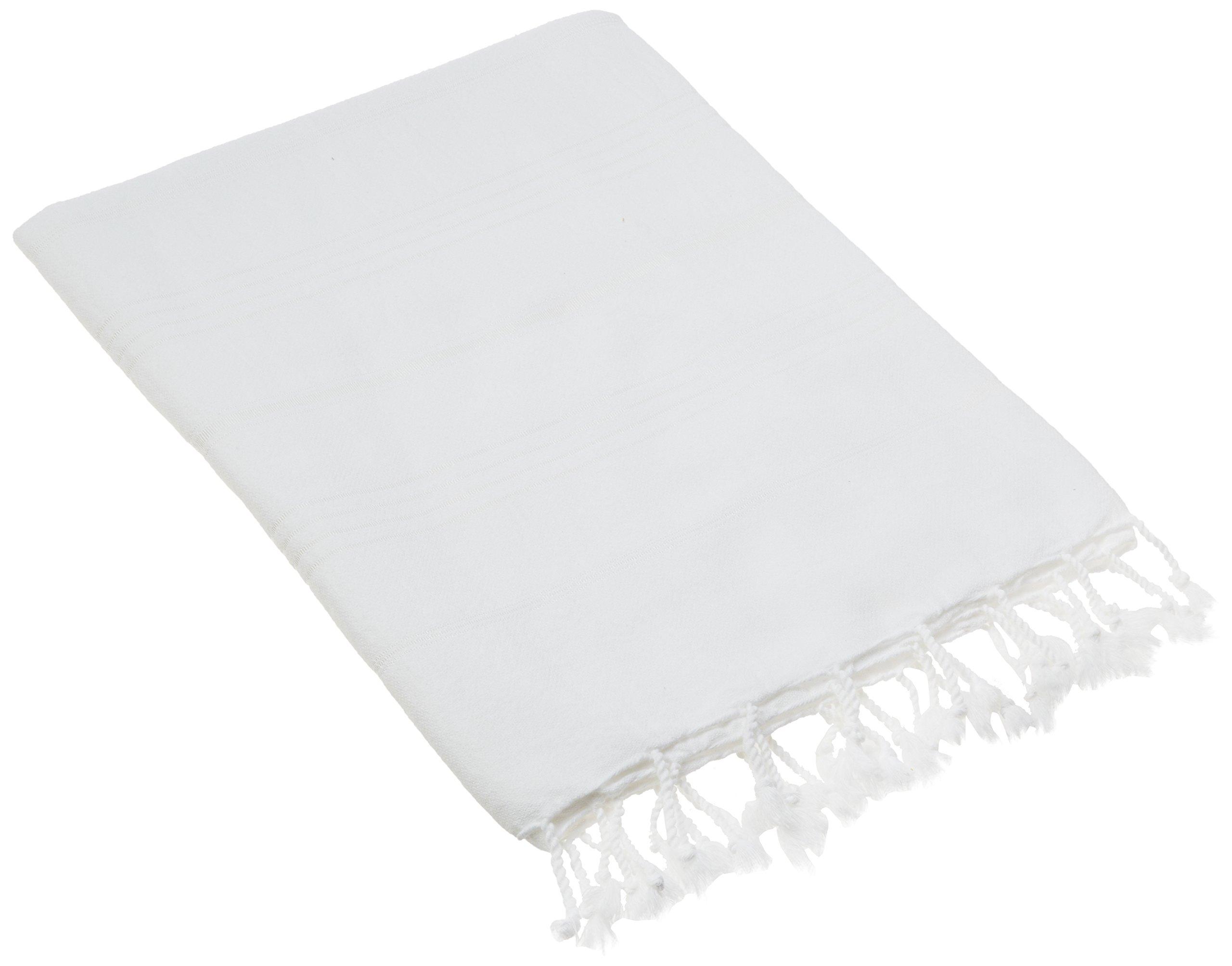 Cacala Toallas de baño Turco de Serie, algodón, Blanco, 95 x 175 x
