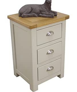 Aspen Painted Oak Sage  Grey Chest of Drawers  2 Over 3 Drawer