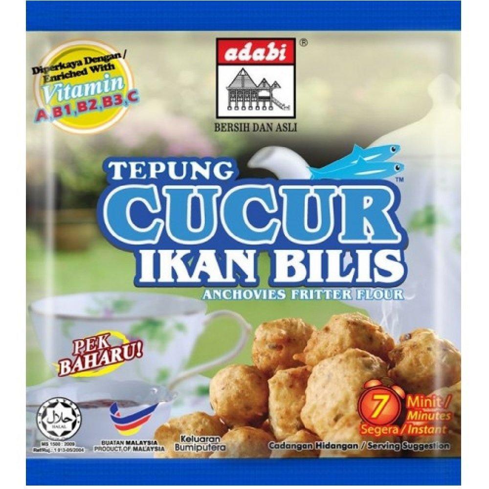 Adabi Tempura Cucur Ikan Bilis Anchovies Fritter Flour 200g (628MART) (1 Pack)