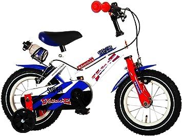 Bicicleta Infantil Chico Niño 12 Pulgadas Super White Frenos al ...