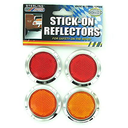 """Bicycle Red 2-1//8/"""" Diameter Reflector with Plastic Back New"""