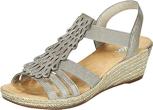 Rieker Damen 62436 Geschlossene Sandalen: : Schuhe VHnTD