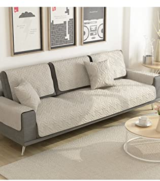Delightful Amazon.com: Cotton Sofa Covers,Couch Slipcovers,Sectional Sofa Throw Cover  Sets Anti Slip Cushion Seat Cover Furniture Protector For Living Room  Grey  ...