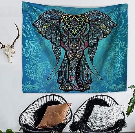 fensajomon Mandala Elefante Print Multi Usos Hippie India tapiz colgar en la pared, tapiz decoración