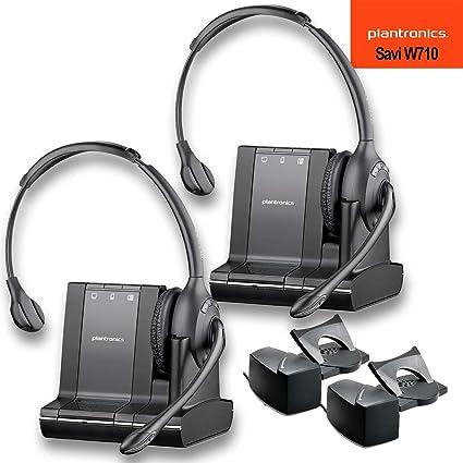 2128f6818df Amazon.com: Plantronics (83545-01) Savi W710 Multi Device Wireless Headset  System + HL10 Handset Lifter - 2 Pack: Electronics