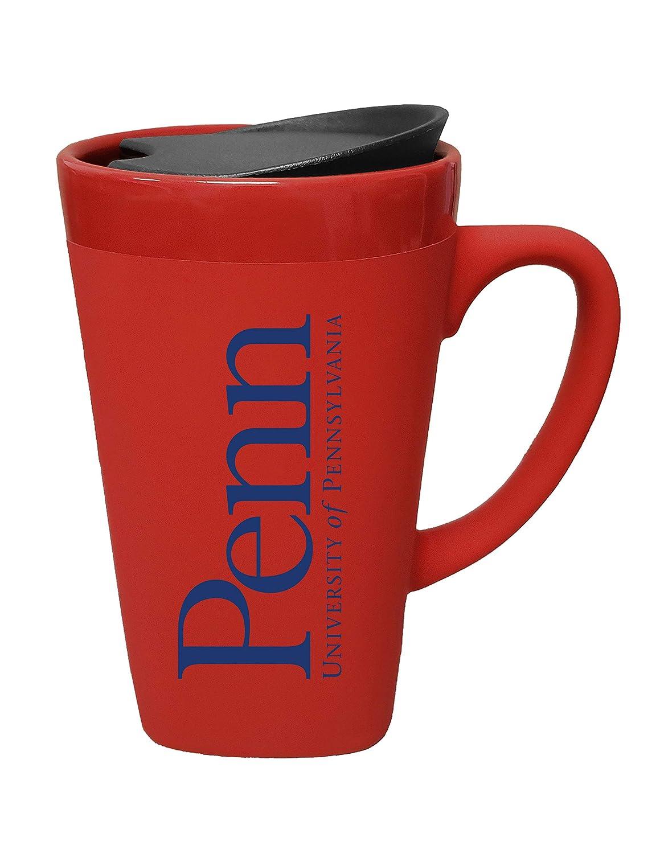 The Fanatic Group University of Pennsylvania Ceramic Mug with Swivel Lid Red Design-2
