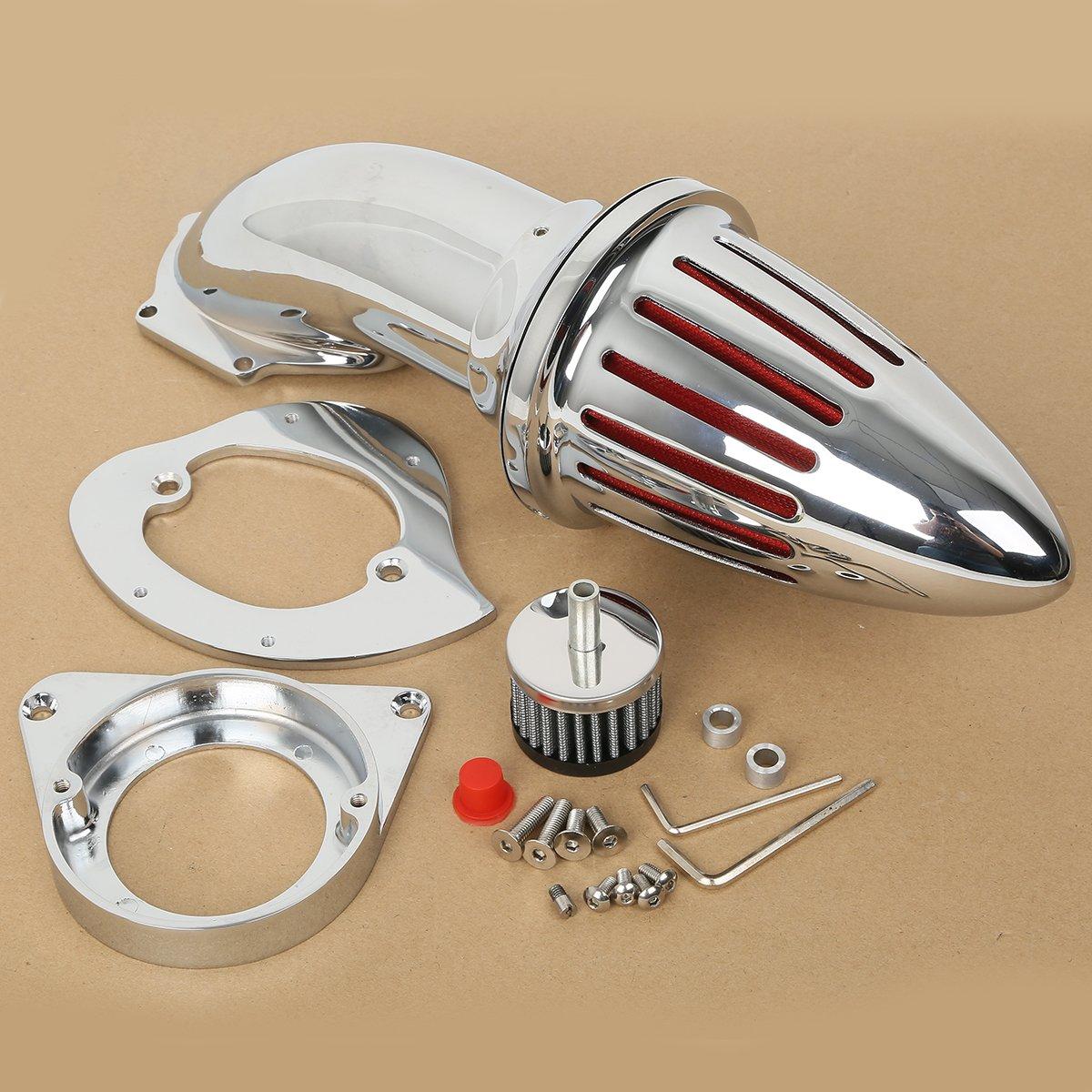 XMT-MOTO Spike Intake Air Cleaner Filter Kit for Kawasaki Vulcan 800 / Classic,Chrome
