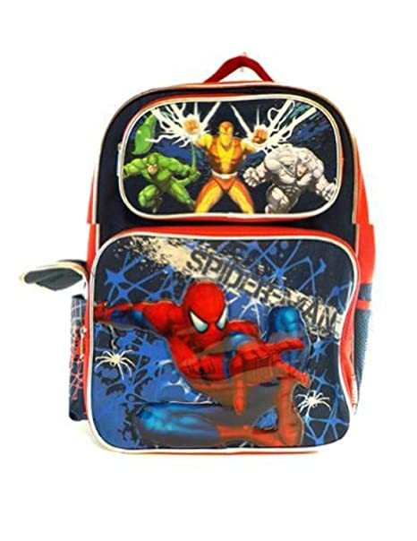 Amazon.com  SpiderMan Backpack - Spider Man School Bag  Toys   Games aea40a8fb57f4