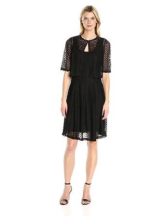 7b70c73ac1f ROBBIE BEE Women s Crochet Sleeveless Dress with Jacket at Amazon ...