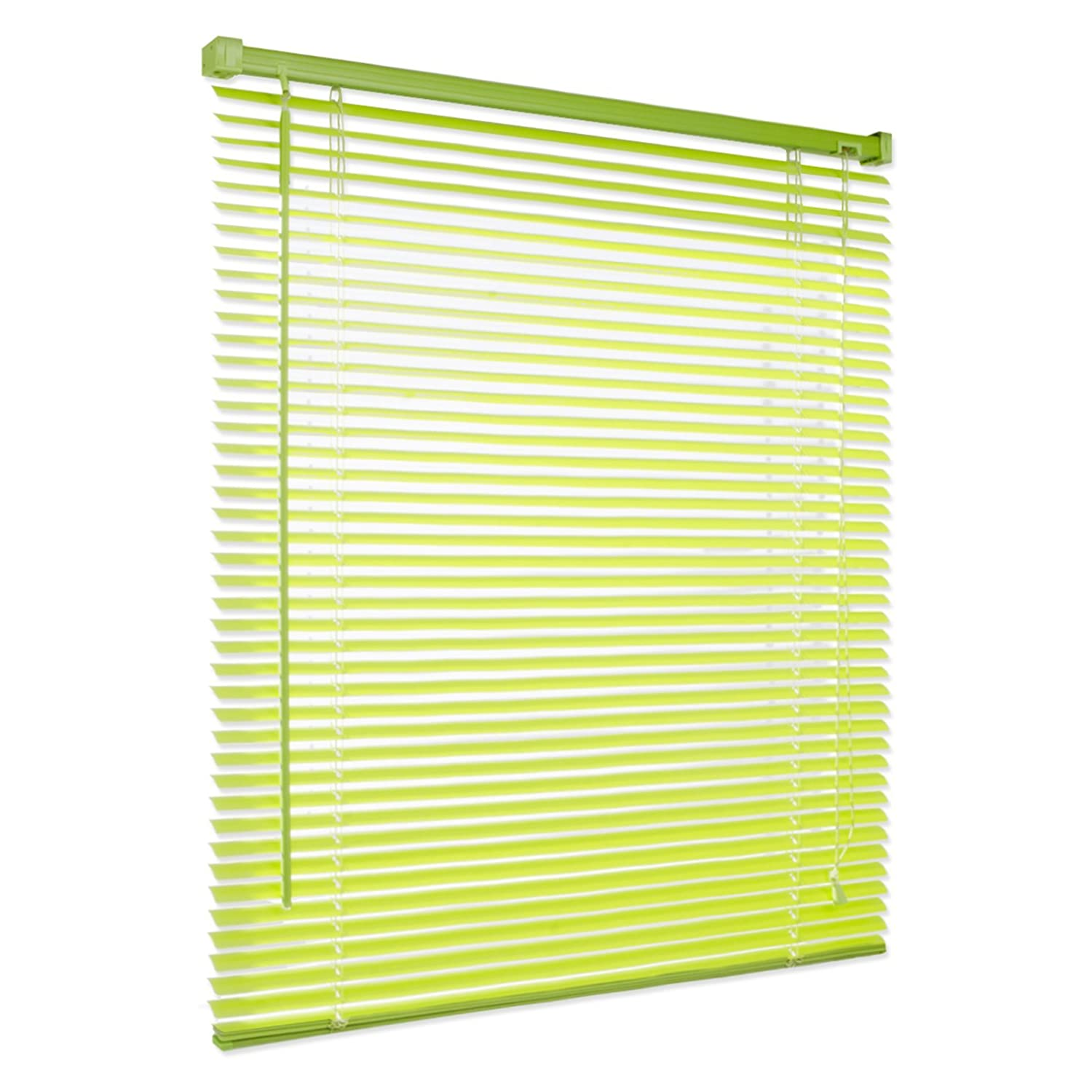 casa pura® Venetian Blind, Jalousie Vista - Lime Green (55 x 200 cm) | Fully Adjustable, 16 Sizes Available