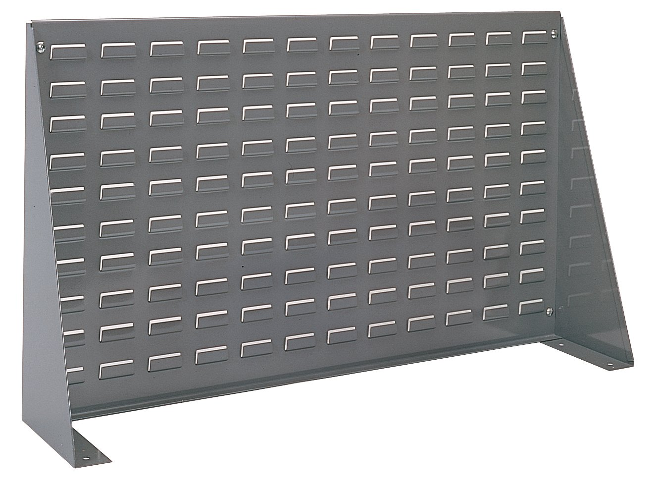 Akro-Mils 98636 Louvered Steel Panel Bench Rack for mounting AkroBins, 36-Inch Length by 20-Inch Height by 8-Inch Width, Grey