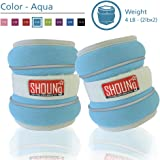 SHOUNg Reflective Ankle Weights / Wrist Weights with Adjustable Strap (1-10lbs), fit for Fitness, Workout, Exercise, Walking, Jogging, Gymnastics, Aerobics and Gym