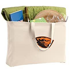 Broad Bay Jumbo Oregon State Tote Bag or Large Canvas OSU Beavers Shopping Bag