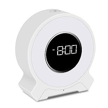 Amazon.com: Reloj despertador con alarma de luz digital con ...