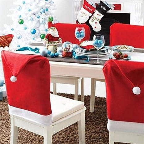 Labellevie Lot De 4 6 Housses De Chaise Decoration Table Noel Forme