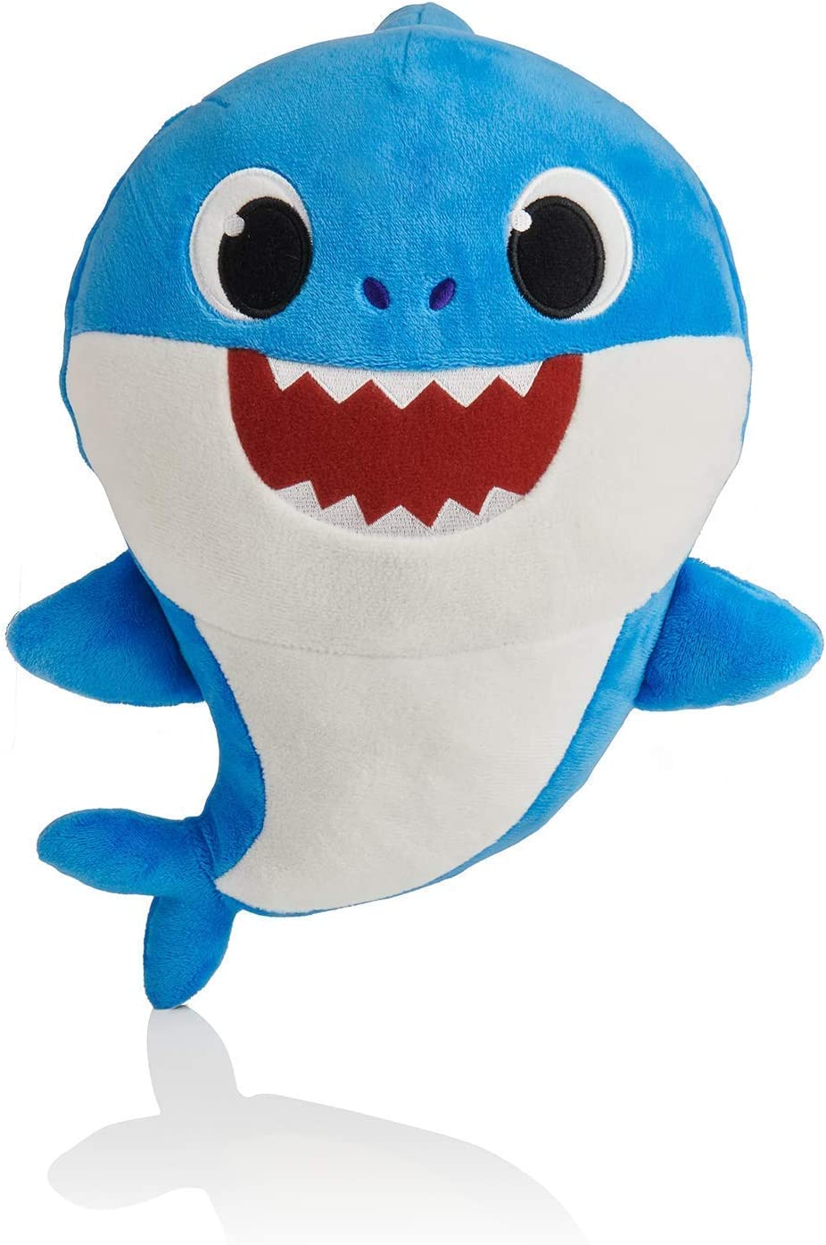 Plush Toy Music Withlight Shark Plush Doll Soft Hair Baby Cartoon Toy Child Pet Hug Pillow Child Gift (Blue) ByHENG-US (C)