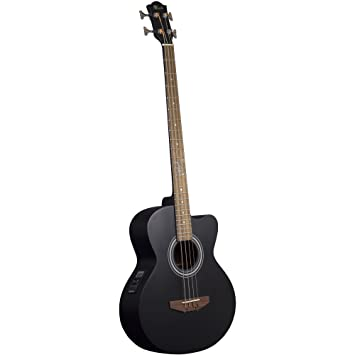 Lindo Black Matte Acb Series Spruce Top Electro Acoustic Bass Guitar