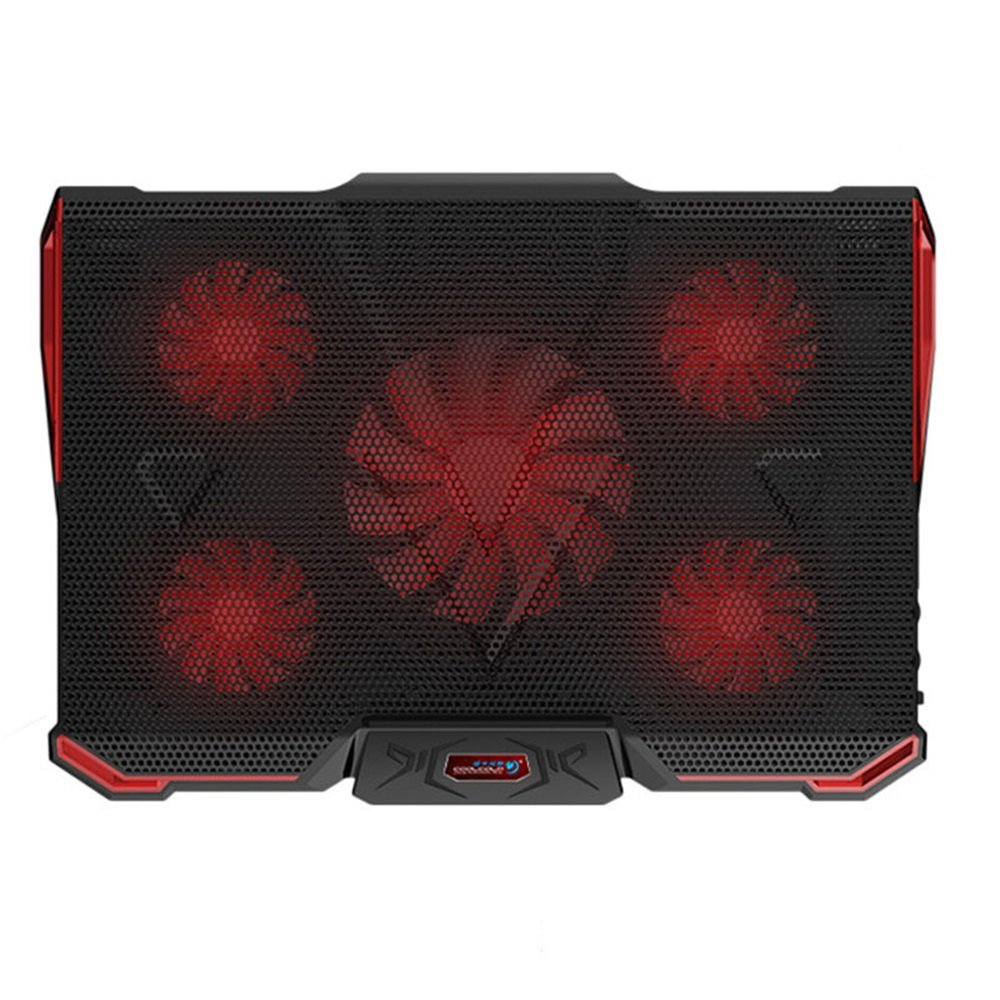 17 Inches Notebook Cooler Laptop Adjustable Stand USB Cooling Pad Five Fans 15.6//17//18//19 Inch Ultra-Thin Portable