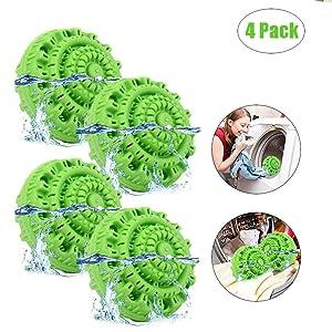 Sweetdecor Laundry Ball Magic Wash Laundry Balls Reusable Eco-Friendly Chemical Free Washer Machine Laundry Balls 4 Pack