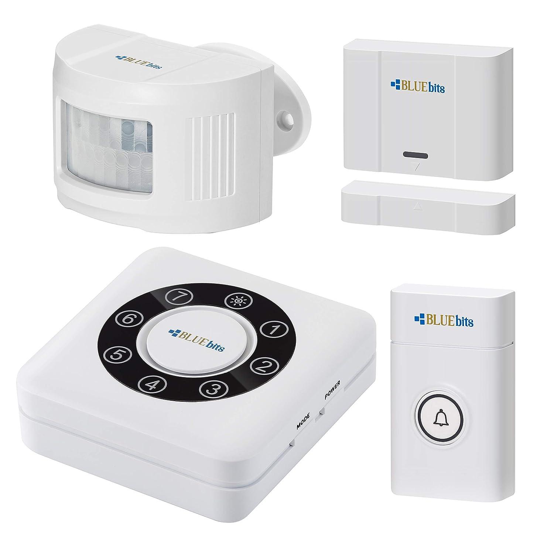 BLUEbits Driveway Alarm System, Doorbell, Door & Window Alarm System