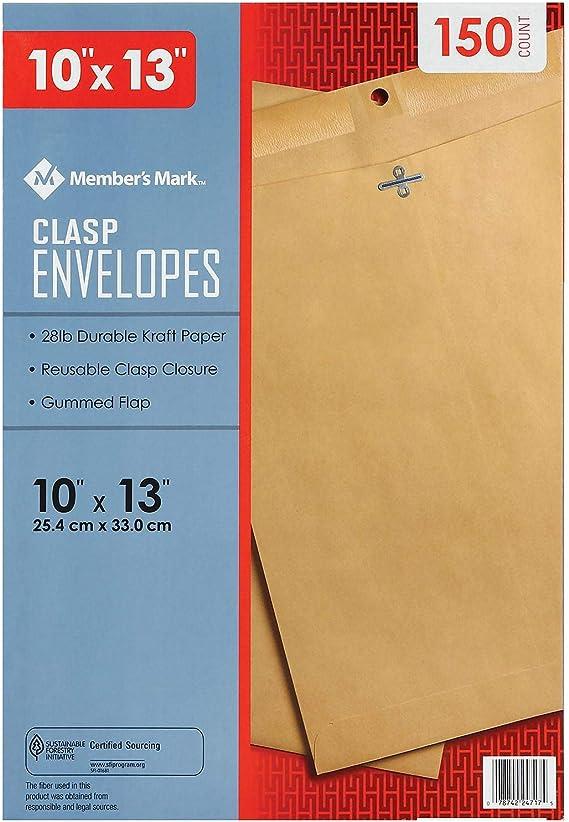 Top Flight Clasp Envelope 10 x 13-150 count