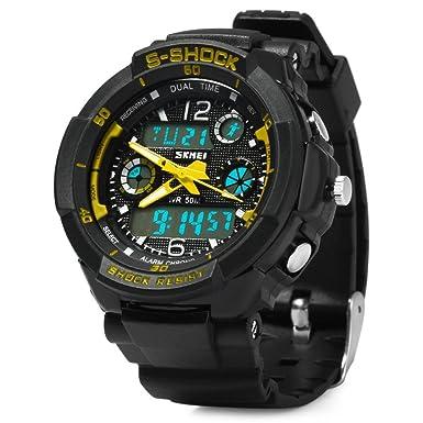 Amazon.com: Relojes de Hombre 2018 Men Sports Watches Led Digital Quartz De Hombre Para Caballero RE0022: Watches