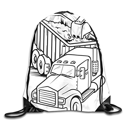 photo relating to Printable Backpacks identified as : TRFOIV GYMBAG Printable Do the job Stress Truck
