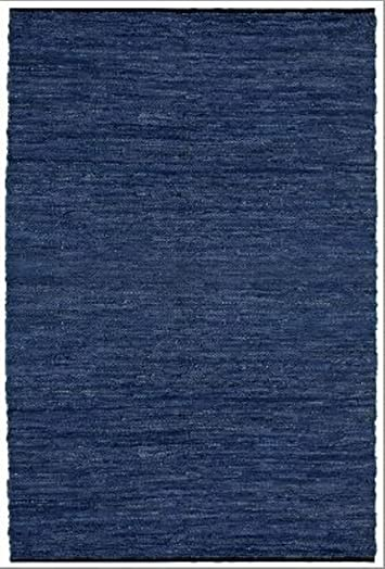Matador Leather Chindi Handmade Rug, 4 by 6-Feet, Blue