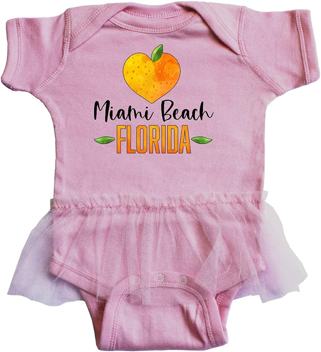 inktastic Miami Beach Florida Orange in Heart Infant Tutu Bodysuit