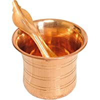 Copper Pot Traditional India Pancha Patra Udharini with Achmani
