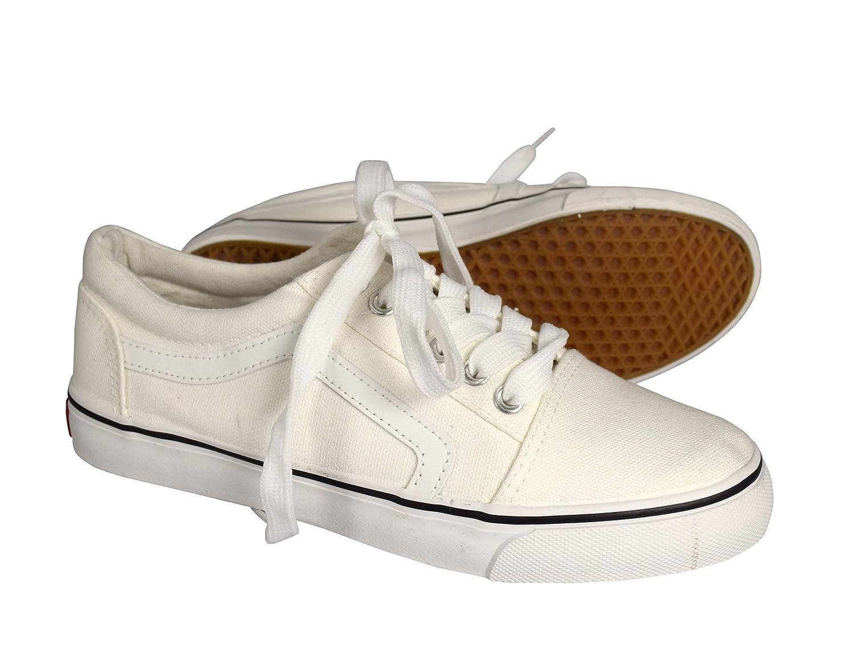látigo Corrupto fuga de la prisión  Buy Peach Couture Women's Old School Comfortable Sneakers Skater Lace Up Tennis  Shoes 7 M US White at Amazon.in