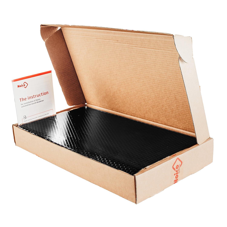 Butyl Automotive Deadener Restoration mat and Noise dampening Insulation Noico Black 80 Mil 36 Sq Ft Car Sound Deadening