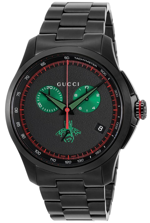 [グッチ]GUCCI 腕時計 Gタイムレス ブラック文字盤 YA126270 メンズ 【並行輸入品】 B078YKYG46