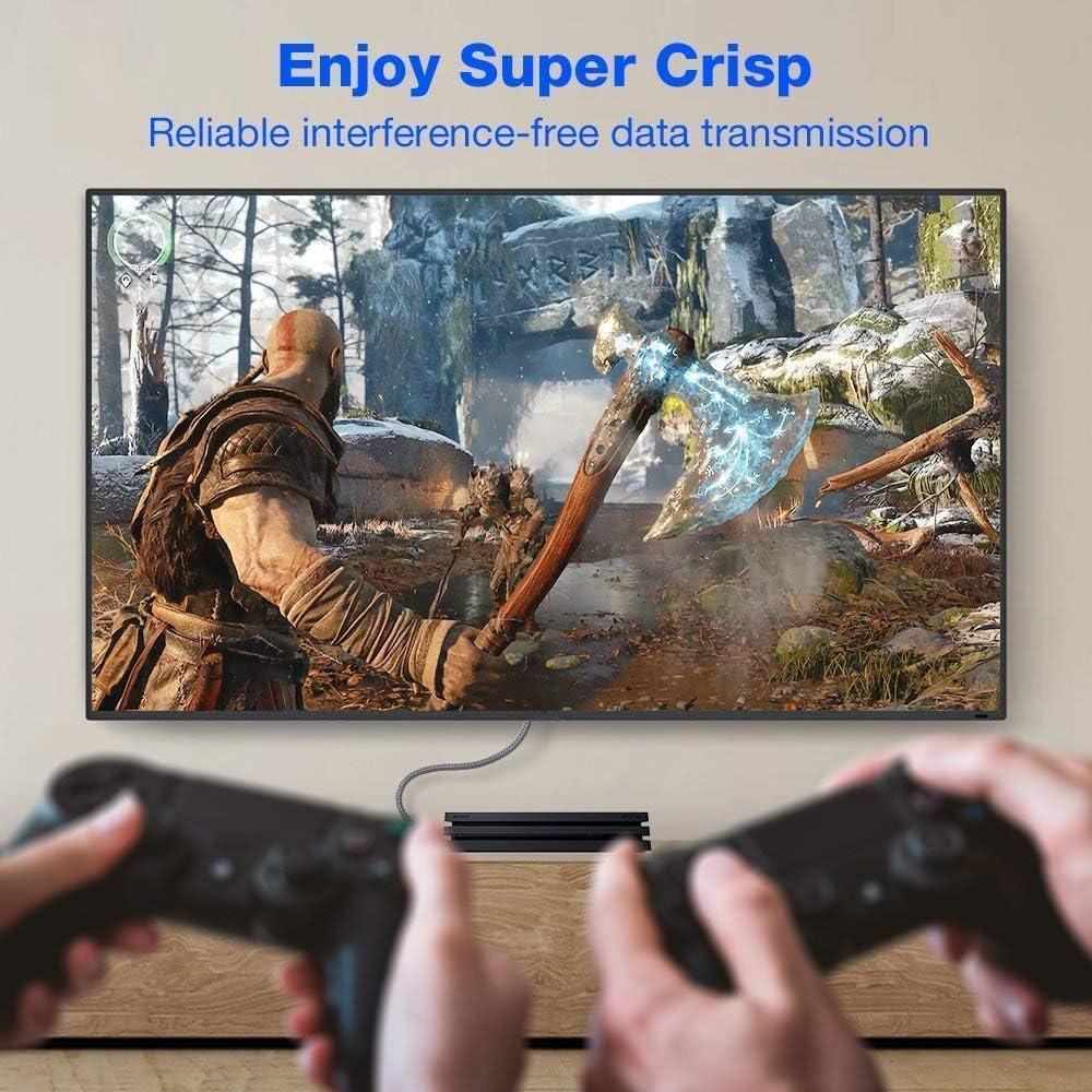 """Immagine """"super crisp"""" con cavi HDMI per videogiochi"""